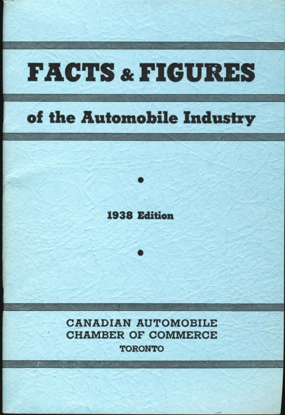 Image for Facts & Figures of the Automobile Industry 1938 Edition