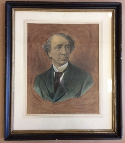 Image for Stone Lithographic Portrait of Sir Join A. Macdonald  Canada's First Prime Minister