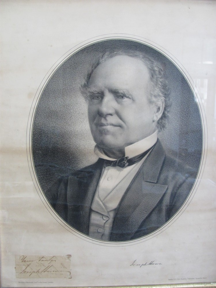 Image for Lithograph of Joseph Howe with his signature attached
