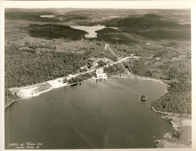 Image for Six black & white photographs of the St. Margaret's Bay Hydro-electricity system. Four showing the construction in 1920 and two showing the complete system taken in the 1930s