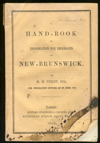 Image for A Hand-Book of Information for Emigrants to New-Brunswick