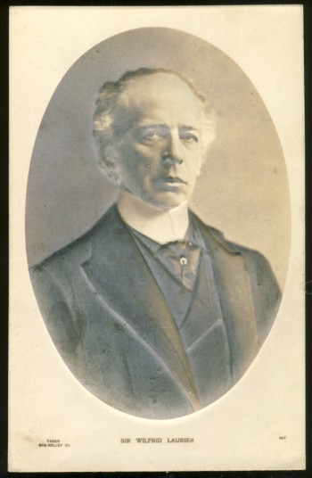 Image for A bas-relief postcard of Sir Wilfred Laurier