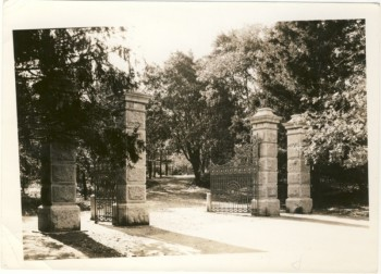Image for Two black & white photographs of the gates between Young Avenue and Point Pleasant Park,  ca1900