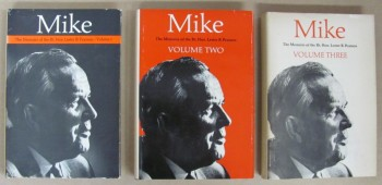 Image for Mike.  The Memoirs of the Right Honourable  Lester B. Pearson (in 3 volumes & signed by Pearson)