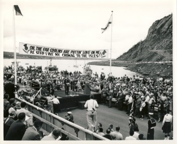 Image for Fifty four black & white photographs of the construction & opening of the Canso Causeway 1952 - 1955