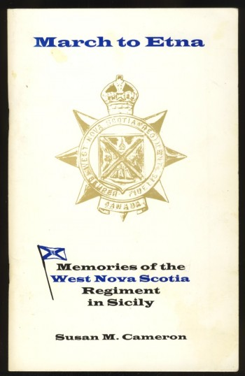 Image for March to Etna Memories of the West Nova Regiment in Sicily