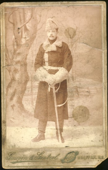 Image for A Photograph of a corporal in winter garb, 2nd battalion, Prince of Wales's Leinster Regiment, Halifax, Nova Scotia (1897/98)