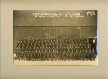Image for Photograph of the Officers Training Centre Brockville, Ontario  1945 B Company Infantry Wing Officers
