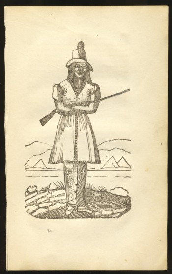 Image for Wood engraving of a Mi'maq hunter with rifle (1849)
