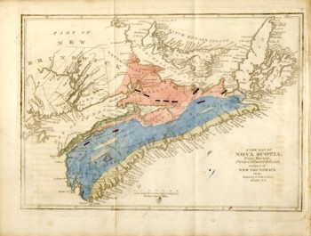 Image for A New Map of Nova Scotia, Cape Breton, Prince Edward Island and part of New Brunswick 1836
