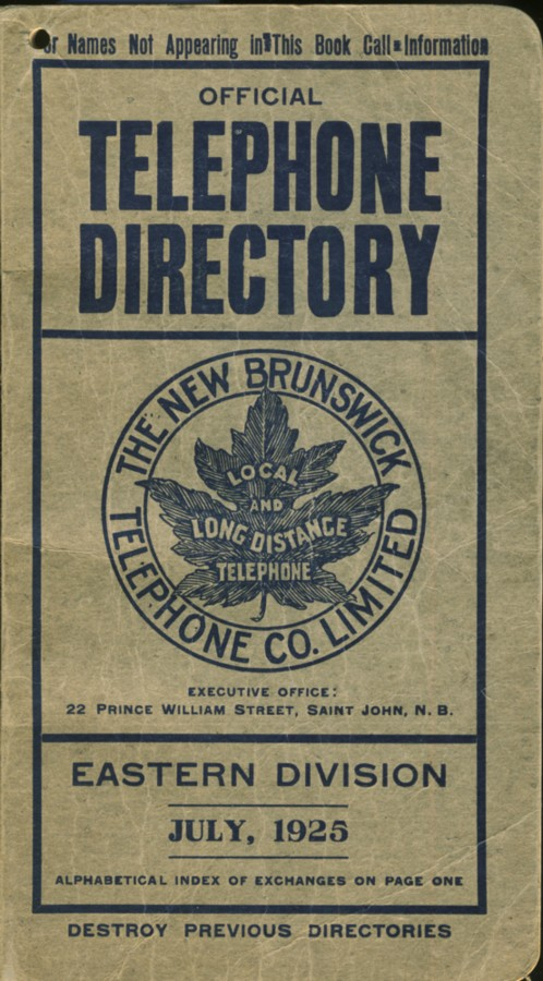 Image for Official Telephone Directory Eastern Division July, 1925