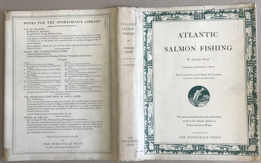 Image for Atlantic Salmon Fishing Illustrated by Ogden M. Pleissner, Robert Nisbet, N.A. and From Photographs Drawings and Maps
