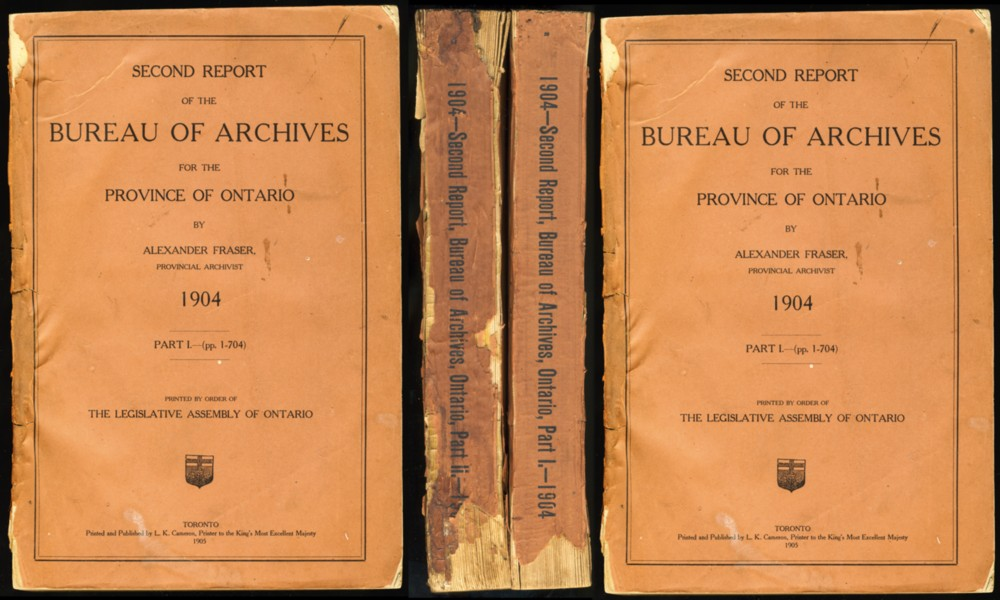 Image for Second Report of the Bureau of Archives For the Province of Ontario 1904 (in 2 parts) printed by order of the Legislative Assembly of Ontario