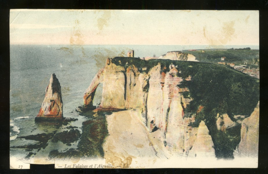 Image for Handwritten note on Postcard of French  coastline dated Jan. 30, 1918. Interesting association with Halifax Explosion &WWI  Nursing sister(?) serving in France. Handwritten by E.A. MacDonel(?) #1 General Hospital B.E.F. France  (Presby.U.S.A.).