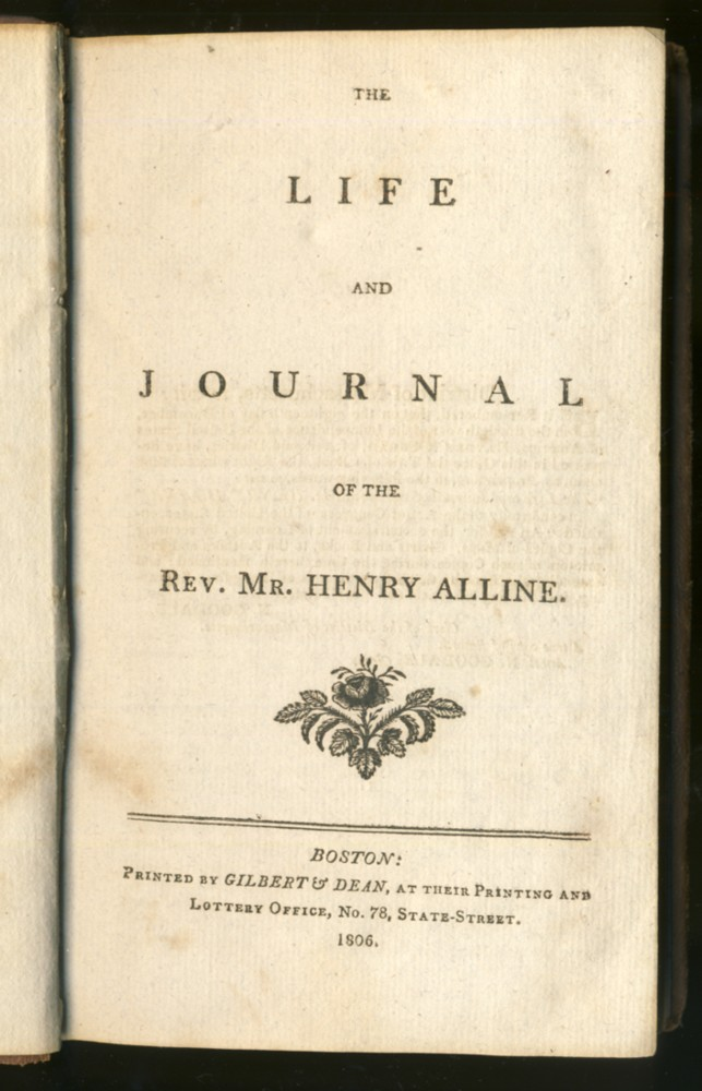 Image for The Life and Journal of the Rev. Mr.Henry  Alline