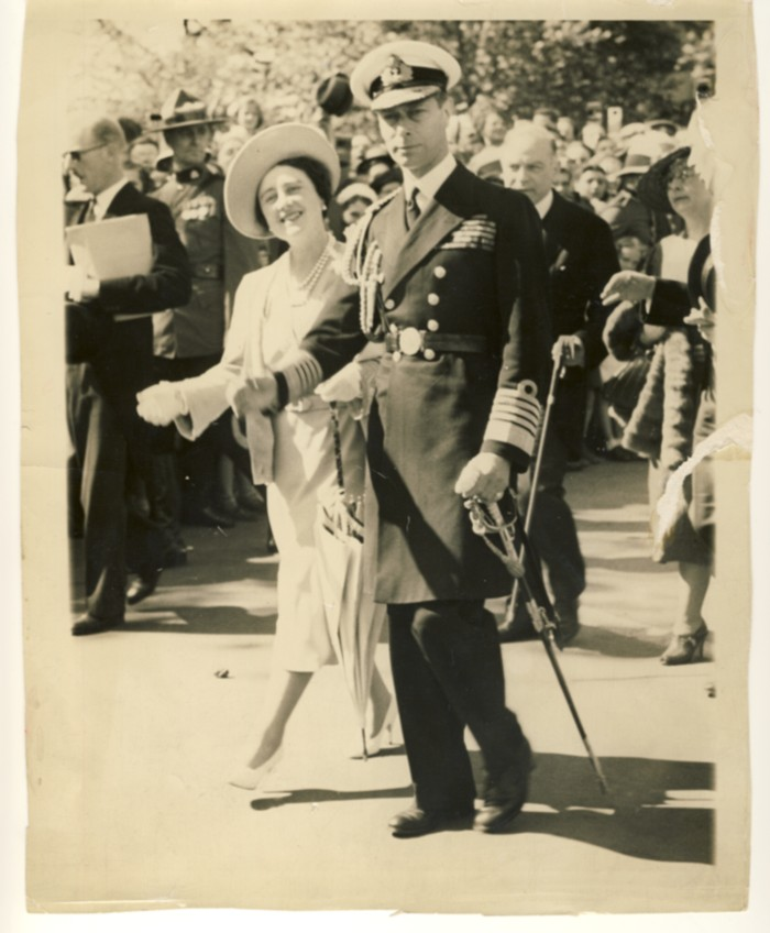 Image for King George VI & Queen Elizabeth with Prime Minister MacKenzie King in the back ground (Canada)